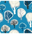 Seamless pattern with hand drawn decorative trees vector image
