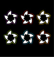 Set of colorful flower logos vector image