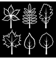 Set of silhouette leaves vector image