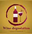 template design suitable for wine tasting vector image