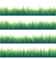 grass isolated on white set green meadow nature vector image vector image