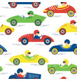 race retro sport car seamless pattern vector image vector image