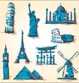 Landmark icons vector image