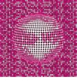 Pink abstract disco ball background vector image