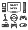 Video game entertaining icons vector image vector image