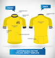 Cycling Jersey Template vector image