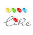 like pinned vector image vector image