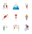 Different sport icons set cartoon style vector image