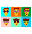 facial expressions of funny characters vector image