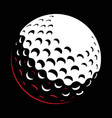 galf ball on dark bakground vector image