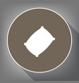 pillow sign white icon on vector image