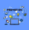 promotion graphic for business concept vector image