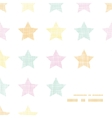 Stars textile textured pastel frame corner pattern vector image