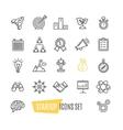 Start Up Motivation Brainstorming Icon Set vector image