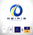 Blue business corporate logo design Letter O vector image