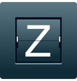 Letter Z from mechanical scoreboard vector image
