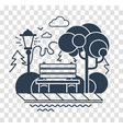 silhouette icon of a calm park vector image