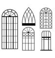 vintage windows vector image