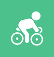 cyclist on bicycle riding bicycle outdoors at vector image