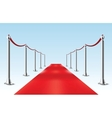 Red Carpet  Isolated vector image
