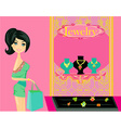 Girl and jewelry vector image vector image
