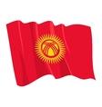 political waving flag of kyrgyzstan vector image vector image