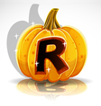 Halloween Pumpkin R vector image