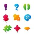 Balloon mark set vector image