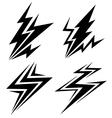 black symbols of electrical discharge vector image