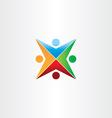 color people star symbol vector image