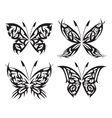 Flaming butterflies vector image