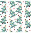fur-trees seamless pattern vector image