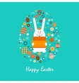 Happy easter 14 vector image