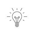 Idea icon outline lamp vector image
