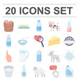 milk product cartoon icons in set collection for vector image