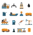 Oil gas industry manufacturing icons for vector image