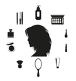 Set of make up icons vector image