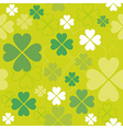 Shamrock seamless pattern Clover backdrop vector image