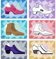 Six stylish man shoe vector image