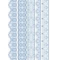 Seamless linear wavy border vector image