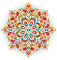 mandala brooch jewelry design element vector image