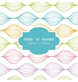 Colorful horizontal ogee frame seamless pattern vector image vector image