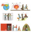 stateless refugees war victims set illigal vector image