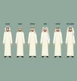 arabian men in headscarves of various types vector image