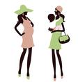 Fashionable maternity vector image