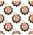 Wheat or barley inside a gear seamless pattern vector image vector image