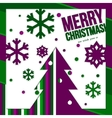 Christmas card made from cutting paper showing vector image