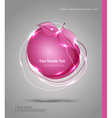 Abstract banner in the form of an apple vector image