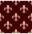 Medieval brown royal fleur-de-lis pattern vector image