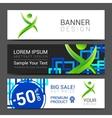 ector design technology Brochure Poster Business vector image
